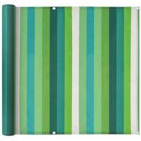 Balcony Screen Oxford Fabric 75x400 cm Stripe Green
