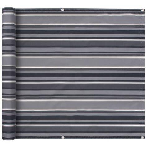 Balcony Screen Oxford Fabric 75x400 cm Stripe Grey - Multicolour