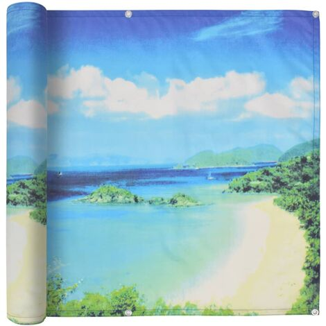 Balcony Screen Oxford Fabric 75x600 cm Lake View Print