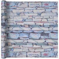 Balcony Screen Oxford Fabric 90x400 cm Stone Wall Print