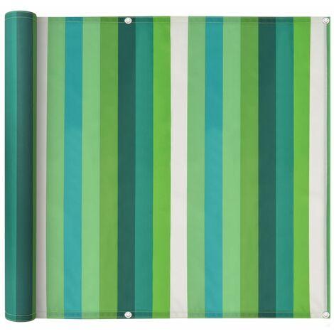 Balcony Screen Oxford Fabric 90x400 cm Stripe Green