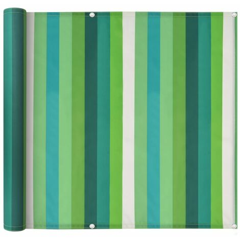 Balcony Screen Oxford Fabric 90x600 cm Stripe Green