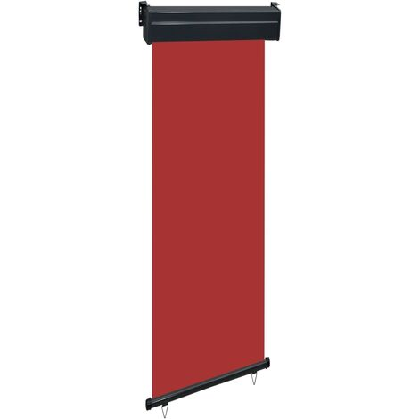 Balcony Side Awning 60x250 cm Red