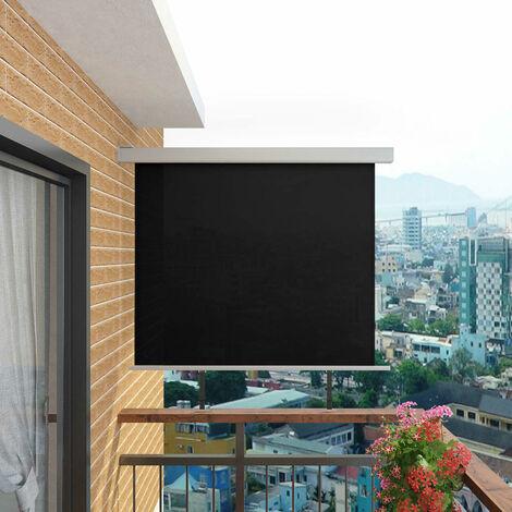 Balcony Side Awning Multi-functional 150x200 cm Black - Black