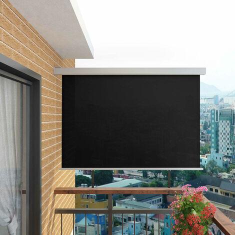 Balcony Side Awning Multi-functional 180x200 cm Black