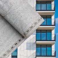 Balcony Terrace Privacy Screen Grey 75cm Sun Shade Mesh Panel Fence Garden