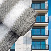 Balcony Terrace Privacy Screen White 75cm Sun Shade Mesh Panel Fence Garden