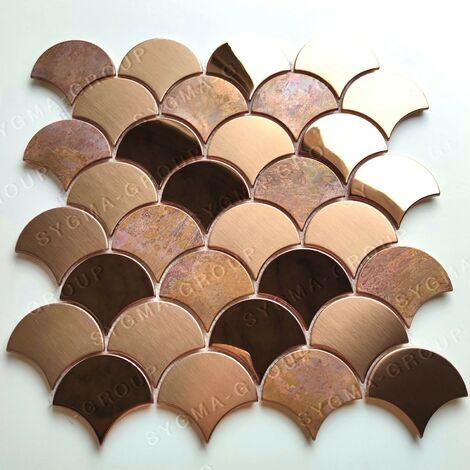 Baldosa de acero color cobre para pared de cocina Hoopa