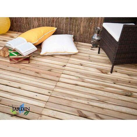 Baldosa de madera recta