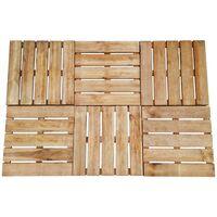 Baldosa de porche 8 unidades 50x50 cm madera marrón FSC