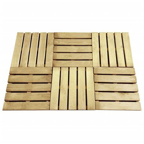 Baldosa de porche 6 unidades 50x50 cm madera verde
