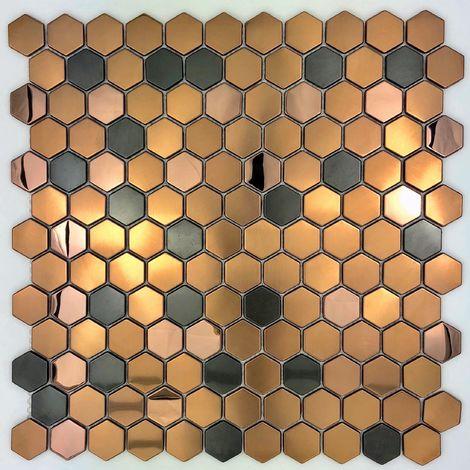 Baldosa hexagonal de acero inoxidable para piso y pared baño y cocina mi-duncan