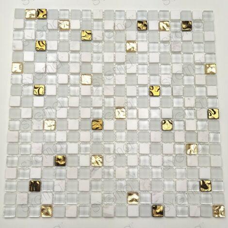 baldosas de mosaico cuarto de baño de vidrio y piedra mvp-frost