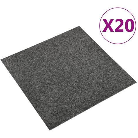 Baldosas de suelo de moqueta 20 uds 5m2 50x50cm gris antracita