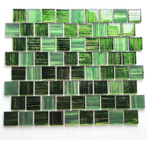 baldosas de vidrio baño de mosaico y cocina Drio vert