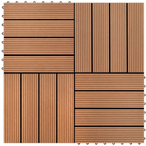 Baldosas de WPC 30x30 cm 11 unidades 1 m² marrón