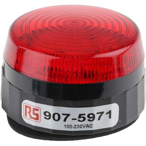 Balise à LED Clignotante série LLP, lentille Rouge, 110 → 230 V c.a.
