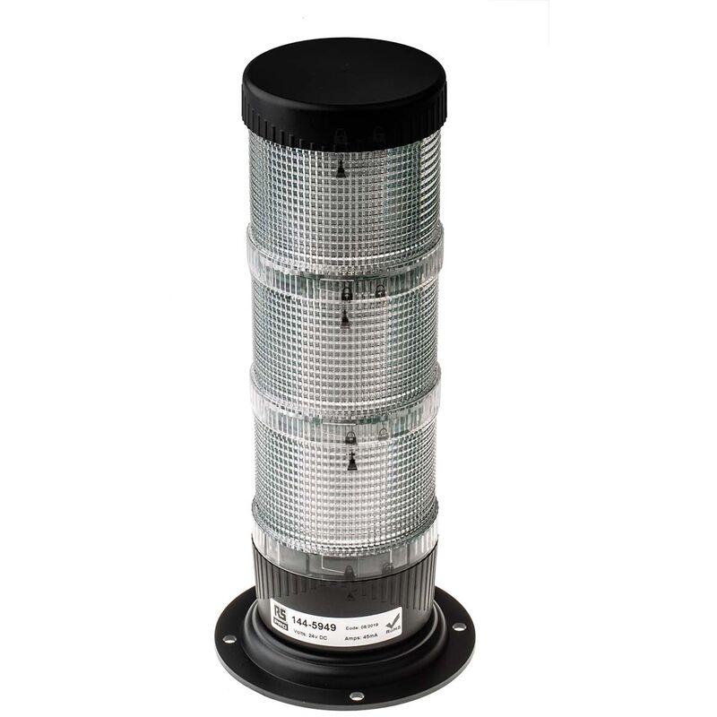 Balise à LED Flash / Fixe série LED-TLM, lentille Ambre, Vert, Rouge, 24 V c.c.
