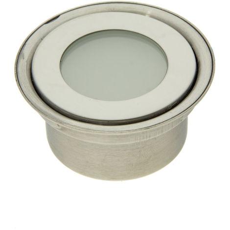 Balise encastrable 12V IP67 Ø60x29,5mm 0,5W, Blanc Chaud | Blanc Chaud