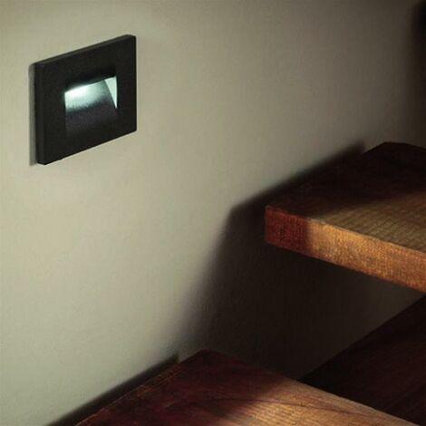 """main image of """"Balise LED saillie 3W 220V 120° Noire IP44 pour Escalier"""""""