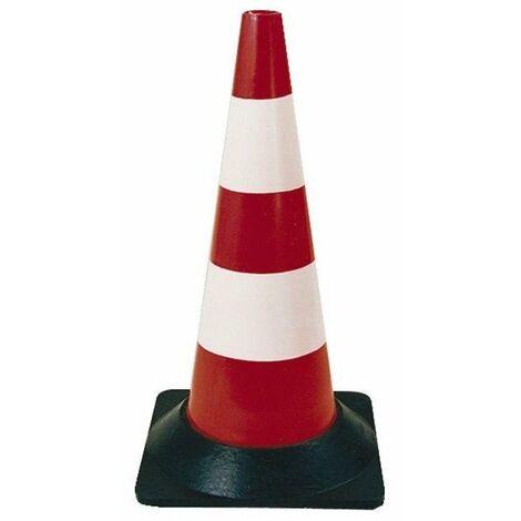 Balise signalisation rouge-blanc haut.50cm pied caout