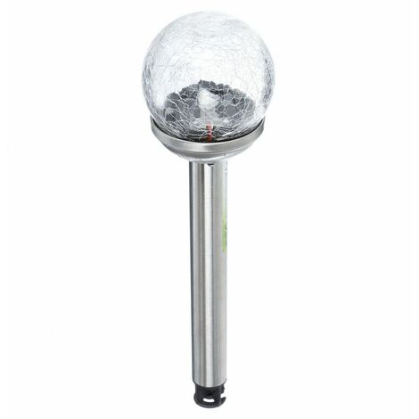 Balise solaire - 37 cm - Inox et verre