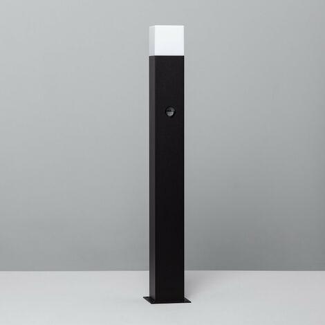 Baliza Augusta Negra con Detector de Movimiento PIR Negro
