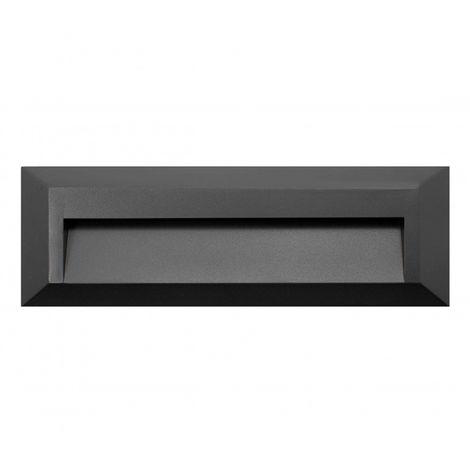 Baliza de Superficie LED Rectangular Wall Negro 2W IP65 Blanco Cálido 3000K | IluminaShop