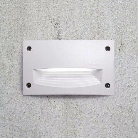 Baliza empotrable LED de pared Fumagalli LETI 200 HS GX53 3W