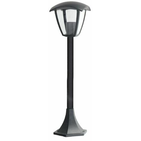 Baliza Farol Negra para Exterior Jardín 1XE27 800mm IP44 Negro | IluminaShop
