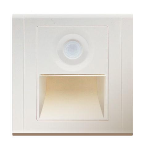 Baliza LED con Sensor PIR Nomis Square 1.2W Blanco Neutro 4500K | IluminaShop