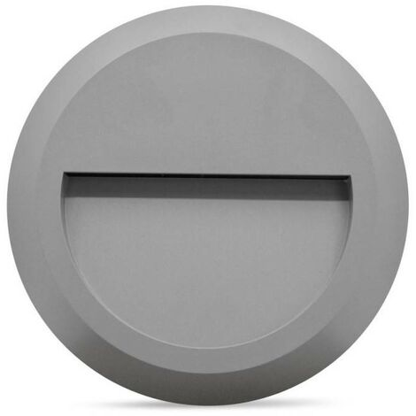 Baliza LED de superficie circular para exterior SILVER 2W IP65
