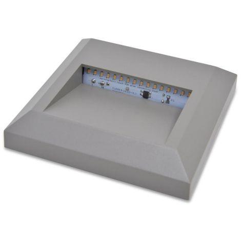 Baliza LED de superficie para exterior SILVER 2W IP65
