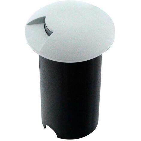 Baliza LED empotrable en suelo 0,75W 12V-DC o 100-240V IP67 | Blanco - Blanco Cálido