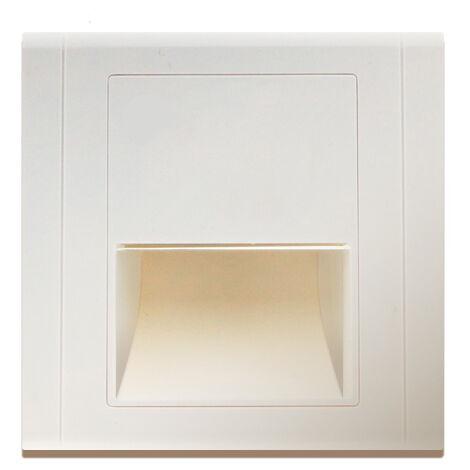Baliza LED Empotrable Nomis Square 1.2W Blanco Neutro 4500K | IluminaShop