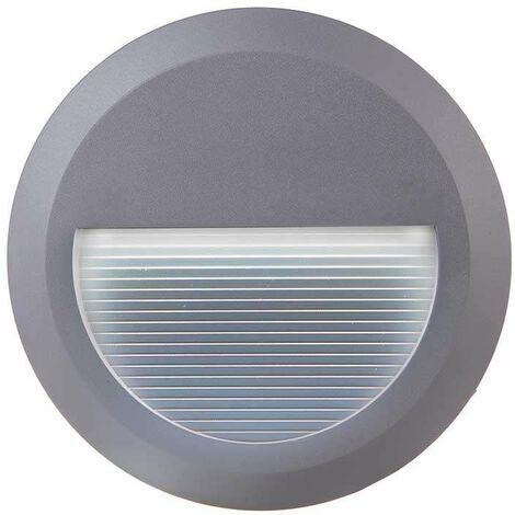 Baliza Led Step Light Design Circular 2W 55° IP65 Gris