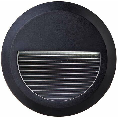 Baliza Led Step Light Design Circular 2W 55° IP65 Negro