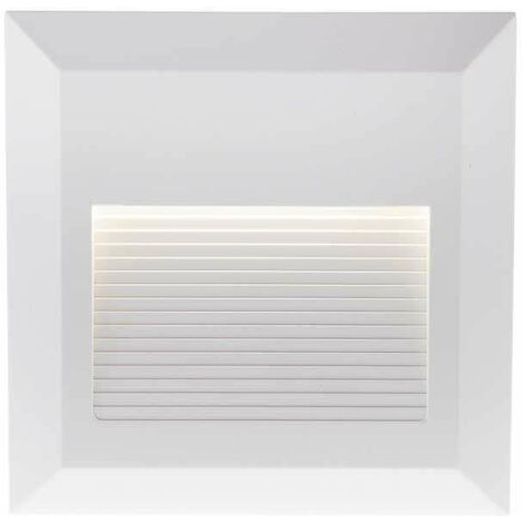Baliza Led Step Light Design Cuadrado 2W 55° IP65 Blanco