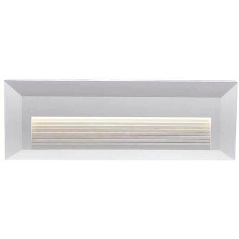 Baliza LED Step Light Design Rectangular 3W 55° IP65 Blanco