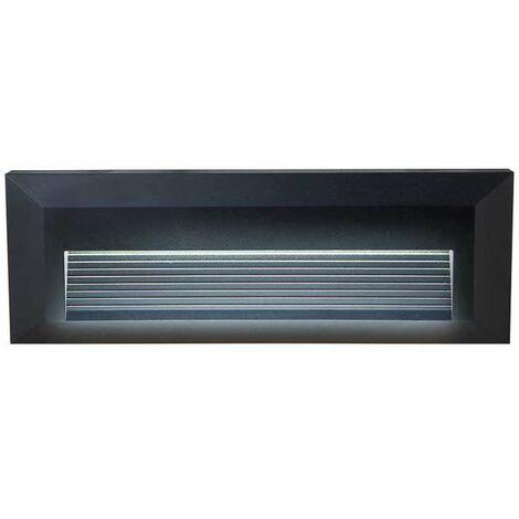 Baliza LED Step Light Design Rectangular 3W 55° IP65 Negro