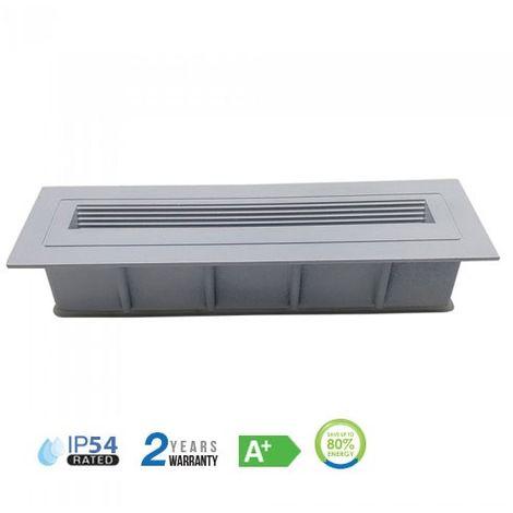 Baliza LED Step Light Design Rectangular Empotrable 6W 120° IP54 Blanco