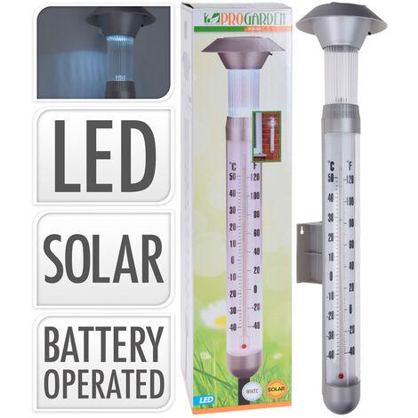 Baliza solar LED con termómetro 98cm