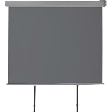 Balkon-Seitenmarkise Multifunktional 150×200 cm Grau