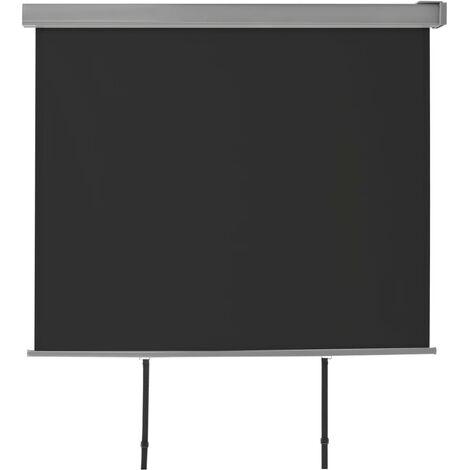 Balkon-Seitenmarkise Multifunktional 150×200 cm Schwarz