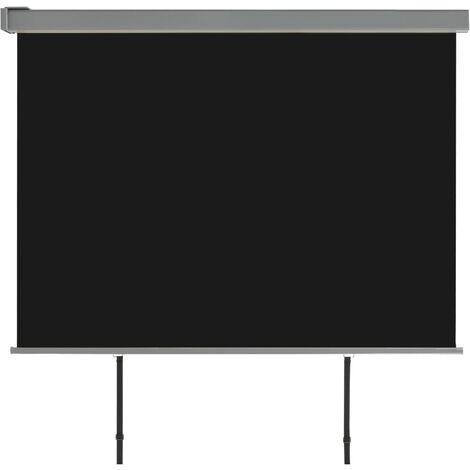 Balkon-Seitenmarkise Multifunktional 180×200 cm Schwarz
