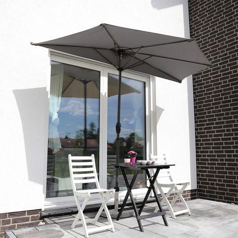 Balkon-Sonnenschirm 270×135 cm Halbrund Sonnenschirm UV 50+