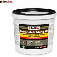 Balkonabdichtung Dichtschlämme 2K Abdichtung Terrassen 10kg auf Polymer