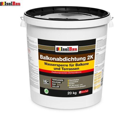 Balkonabdichtung Profi Dichtschlämme 2K Abdichtung Terrasse Balkone 2-K 20 kg
