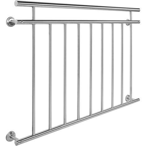 Balkongeländer Edelstahl 90x128cm Französischer Balkon Stabgeländer