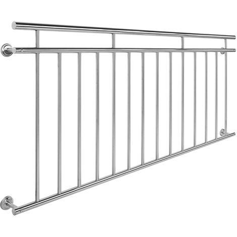 Balkongeländer Edelstahl 90x184cm Französischer Balkon Stabgeländer